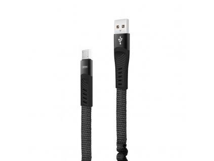 XO NB127 USB kabel - Micro USB 1,2m / 2,1A černý