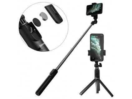 Baseus SUDYZP-F01 selfie tyč / tripod s dálkovým ovládáním / 65cm černá