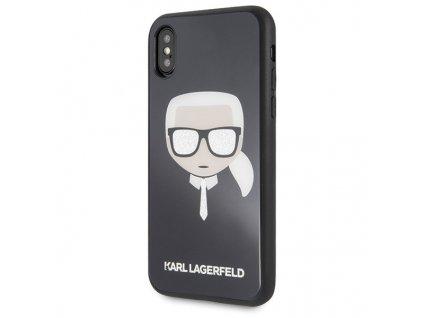 Karl Lagerfeld kryt pro iPhone X / iPhone Xs černý, KLHCPXDLHBK