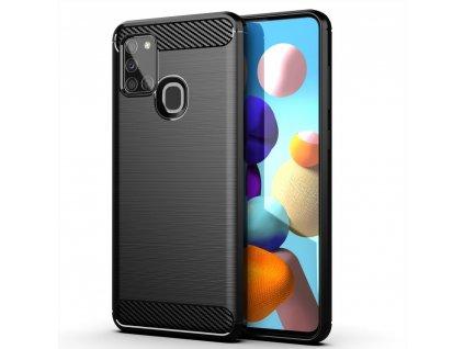 Pouzdro Carbon Case pro Samsung Galaxy A21s černé