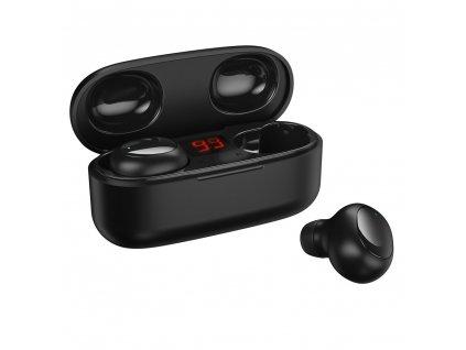 WK Design TWS-V5 BT 5.0 handsfree sluchátka EarBuds černé (iOS / Android) černé