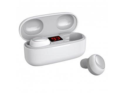 WK Design TWS-V5 BT 5.0 handsfree sluchátka EarBuds černé (iOS / Android) bílé