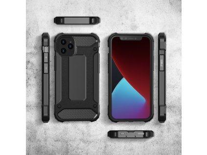 """Hybrid Armor Case odolné pouzdro pro iPhone 12 PRO MAX (6,7"""") černé"""
