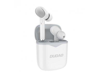 Dudao U12 TWS bezdrátové bluetooth sluchátka bílé