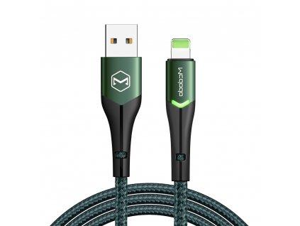 MCDODO CA-7841 USB kabel pro iPhone / Lightning 2,4A / 1,2m - zelený