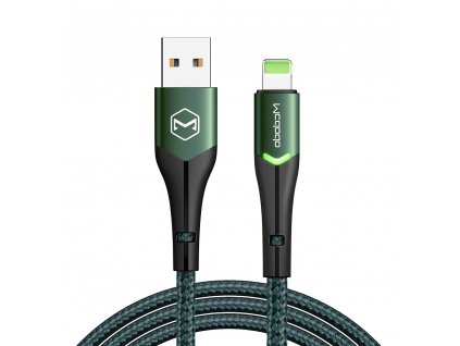 MCDODO CA-7844 USB kabel pro iPhone / Lightning 2,4A / 1,8m - zelený