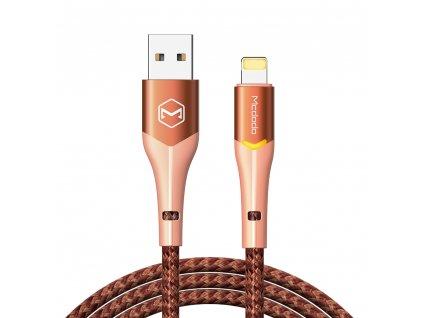 MCDODO CA-7845 USB kabel pro iPhone / Lightning 2,4A / 1,8m - rose/orange