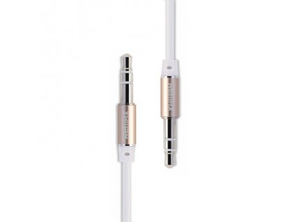 Remax Aux kabel - 3,5mm jack / 3,5mm jack / 1m bílý