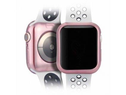 Dux Ducis pouzdro k Apple Watch 4 / 44mm / 2ks - růžové + transparentní