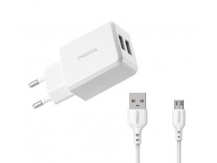 Proda PD-A22 nabíječka (2,1A) + kabel micro USB