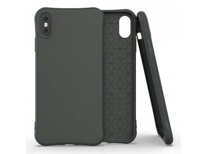 Pouzdro Soft Color Case pro iPhone X / Xs tmavě zelené
