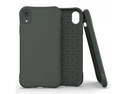 Pouzdro Soft Color Case pro iPhone Xr tmavě zelené