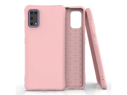 Pouzdro Soft Color Case pro Samsung Galaxy A41 růžové
