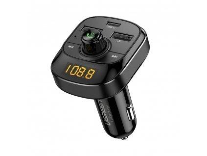 UGreen FM transmitter s USB nabíječkou 2xUSB / USB-C PD / Micro SD / 4,8A