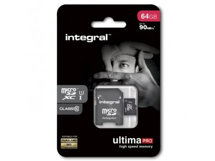 INTEGRAL micro SDHC 64GB Class 10 (blister), UHS1 90MB/s
