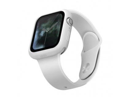 UNIQ Lino pouzdro / kryt k Apple Watch 4/5/SE 44mm bílé