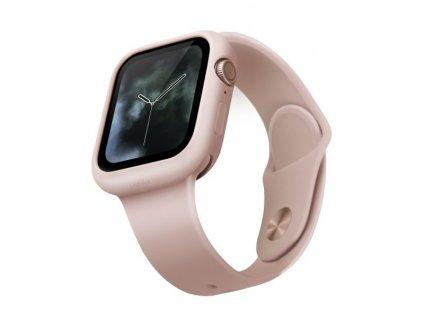 UNIQ Lino pouzdro / kryt k Apple Watch 4/5/SE 44mm růžové
