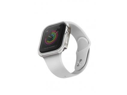 UNIQ Valencia pouzdro / kryt k Apple Watch 4/5/6/SE 40mm titanium silver