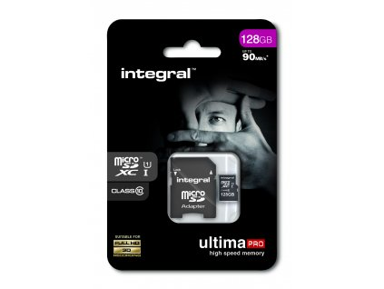 INTEGRAL micro SDHC 128GB Class 10 (blister), UHS1 90MB/s