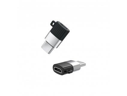 XO NB149-A adaptér Micro USB na USB-C černý