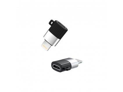 XO NB149-B adaptér Micro USB na iPhone Lightning černý