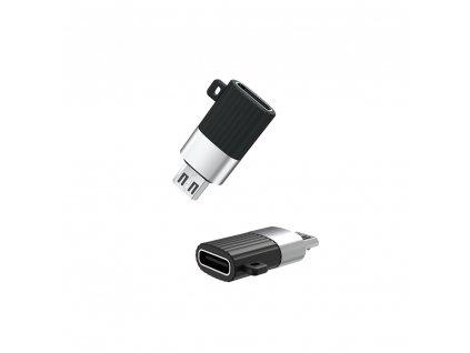 XO NB149-C adaptér USB-C na Micro USB černý