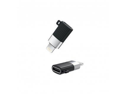 XO NB149-D adaptér USB-C na iPhone Lightning černý