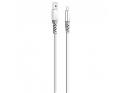 XO NB154 USB kabel - iPhone lightning 1m / 2A stříbrný