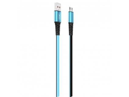 XO NB154 USB kabel - Micro USB 1m / 2A modrý