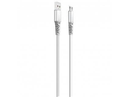 XO NB154 USB kabel - Micro USB 1m / 2A stříbrný