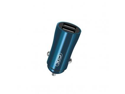 XO CC28 nabíječka do auta 2x USB / 3,5A modrá