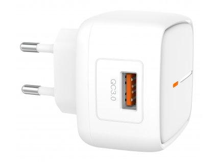 XO L59 nabíječka s výstupem USB / QC 3.0 bílá