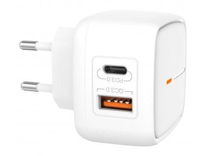 XO L60 nabíječka s výstupem USB / QC 3.0 + USB-C PD bílá