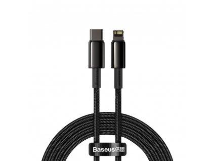Baseus CATLWJ-A01 kabel USB-C PD / Apple Lightning 20W / 2m / černý