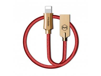 MCDODO CA-3927 USB kabel pro iPhone / Lightning 2,4A / 1,8m - červený