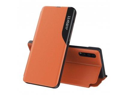 Pouzdro ECO Leather View pro Samsung Galaxy A70 oranžové