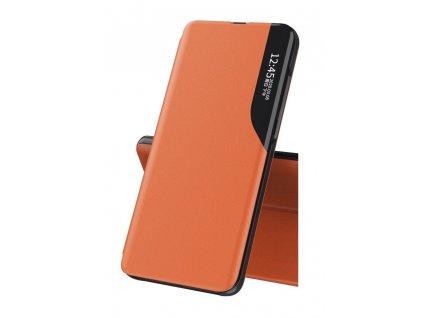 Pouzdro ECO Leather View pro Huawei P40 Lite oranžové