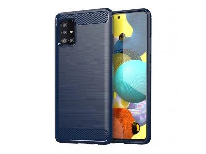 Pouzdro Carbon Case pro Samsung Galaxy M31s modré