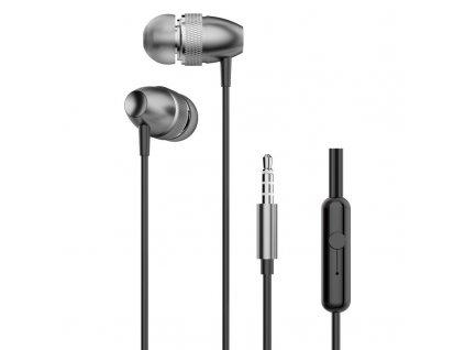 Dudao X2Pro handsfree sluchátka iOS / Android - univerzální 3,5mm jack šedé