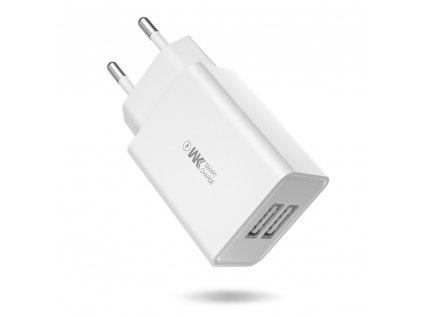 WK Design WP-U56 nabíječka s výstupem 2x USB / 2A bílá bez USB kabelu