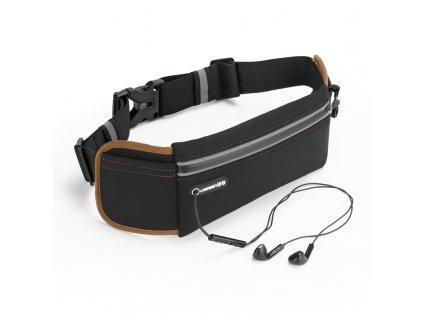 UGreen LP112 Sportovní pouzdro / ledvinka na běhání s prostupem na sluchátka černá