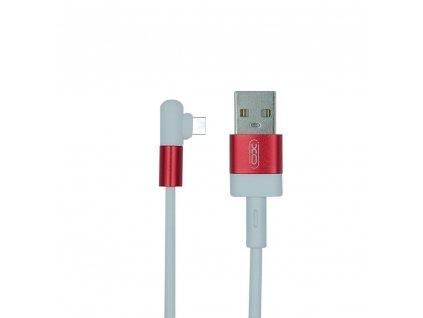XO NB152 USB kabel - USB-C 1m / 2,4A bílá/červená