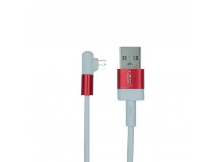 XO NB152 USB kabel - Micro USB 1m / 2,4A bílá/červená