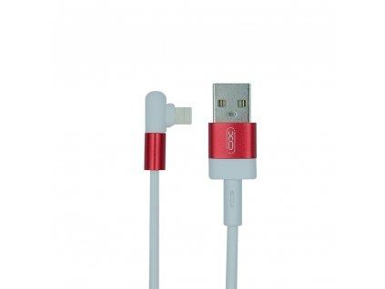 XO NB152 USB kabel - iPhone lightning 1m / 2,4A bílá/červená