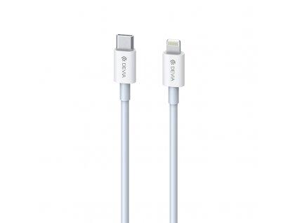 Devia USB kabel USB-C PD - iPhone lightning 1m / 3A / 20W bílý