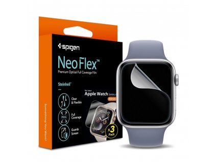 Spigen Neo Flex Hd ochranná fólie pro Apple Watch 4/5/6/SE - 44mm / 3ks