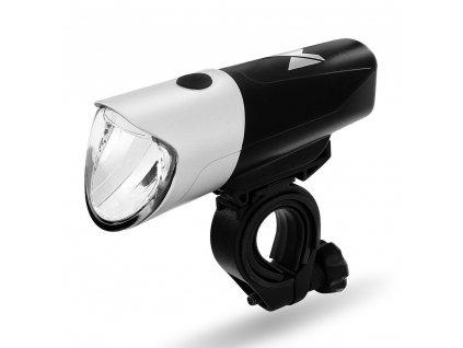 Wozinsky přední světlo na kolo / USB nabíjení - černá / stříbrná