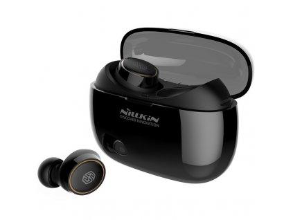 Nillkin E1 Liberty TWS bezdrátové bluetooth sluchátka / BT 5.0 / IPX4 černá / zlatá