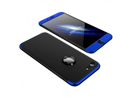 """Pouzdro GKK 360 pro Apple iPhone 7 / 8 (4,7"""") černá / modrá"""