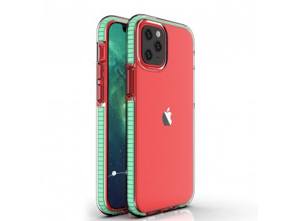 "Spring Case TPU pouzdro pro Apple iPhone 12 Mini (5,4"") clear / mint"